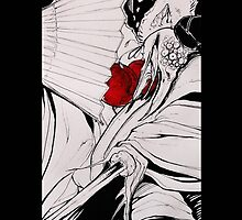 Crow Tengu - Fleeting Blossoms by Erzdaemon