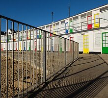 The beach huts on Porthgwidden beach, St Ives, Cornwall by Jeff  Wilson