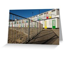 The beach huts on Porthgwidden beach, St Ives, Cornwall Greeting Card