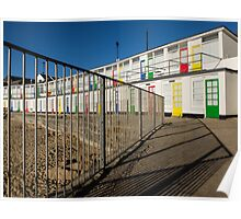 The beach huts on Porthgwidden beach, St Ives, Cornwall Poster