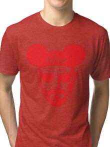 Red Walter White Mouse Ears Tri-blend T-Shirt