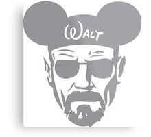Grey Walter White Mouse Ears Metal Print