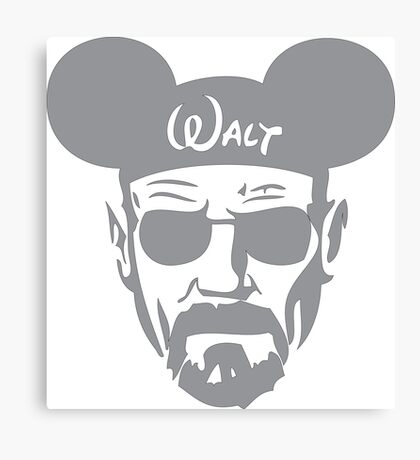 Grey Walter White Mouse Ears Canvas Print