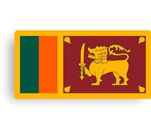 Sri Lanka Flag Canvas Print