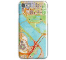 Watercolor map of Washington city center iPhone Case/Skin