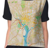 Watercolor map of Washington metropolitan area Chiffon Top