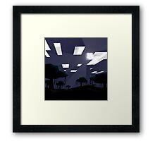 Minecraft Nightscape Framed Print