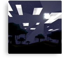 Minecraft Nightscape Canvas Print