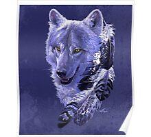 Wolf Spirit Totem Poster