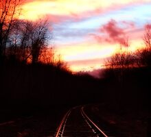 sunset on the rails by vigor