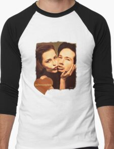 Gillian and David - The Schmoopies Men's Baseball ¾ T-Shirt