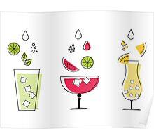 Summer Drinks! Poster