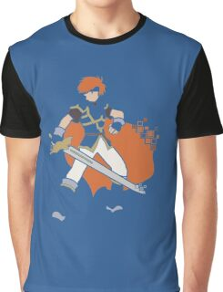 Pixel Silhouette: Marth Graphic T-Shirt