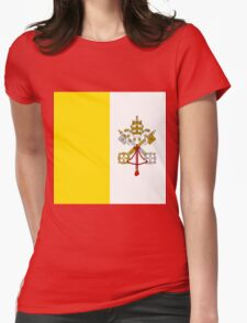 Vatican City Flag Womens Fitted T-Shirt