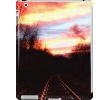 sunset on the rails iPad Case/Skin