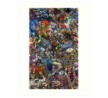 Mutant Collage Art Print