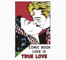Comic Book Love is True Love Baby Tee