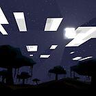 Minecraft Nightscape by Sirkib