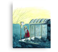 Average Heroes: The Bus Stop Waiter Canvas Print