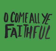 O Come All Ye Faithful One Piece - Short Sleeve