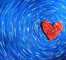 Loving Red on Blue - Color Background by LivingWild