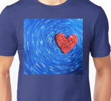 Loving Red on Blue - Color Background Unisex T-Shirt