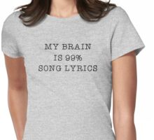 Music Song Lyrics Lover Popular Funny Text  Womens Fitted T-Shirt