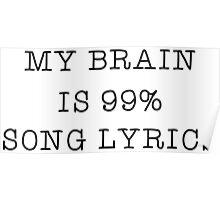 Music Song Lyrics Lover Popular Funny Text  Poster