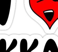 I Love Bukkake Sticker