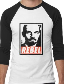 Lenin REBEL (OBEY RIPOFF) Men's Baseball ¾ T-Shirt