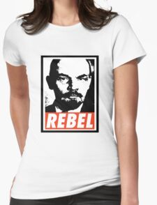 Lenin REBEL (OBEY RIPOFF) Womens Fitted T-Shirt
