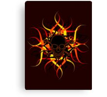 Dark Poison Skull & Crossbones Canvas Print