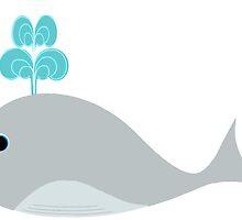 Cute Gray Baby Whale by BeachBumFamily