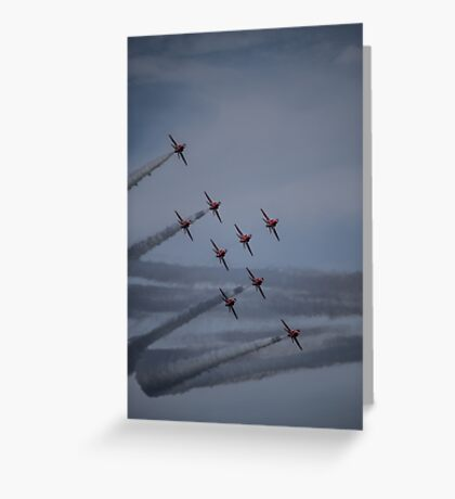 Red Arrows Curve Greeting Card