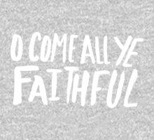 O Come All Ye Faithful II One Piece - Long Sleeve