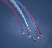 Red Arrows Coloured Smoke by Jack Steel