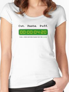 Cut Paste Puff 002 Women's Fitted Scoop T-Shirt