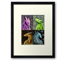 Four Seasons Dragons Framed Print
