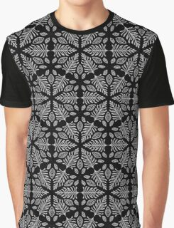 Geometric Fern pattern 1 in black and white Graphic T-Shirt