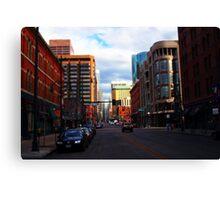 Denver Tilted Canvas Print