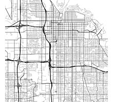 Salt Lake City Map, USA - Black and White  Photographic Print