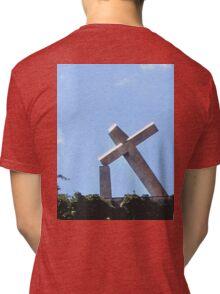 RECIFE BRAZIL THE TILTED CROSS Tri-blend T-Shirt