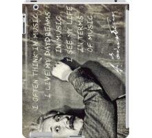 Einstein The Music Lover iPad Case/Skin