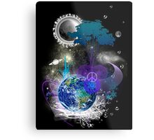 Cosmic geometric peace Metal Print