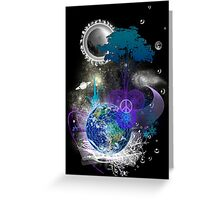 Cosmic geometric peace Greeting Card