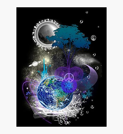 Cosmic geometric peace Photographic Print