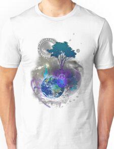 Cosmic geometric peace Unisex T-Shirt