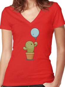 Love knows no bounds Women's Fitted V-Neck T-Shirt