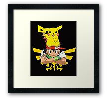 Ash With Triforce Framed Print