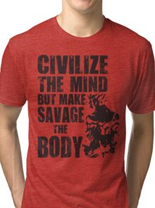 Make Savage The Body (Ripped Saiyan) Tri-blend T-Shirt